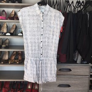 Black and white printed romper